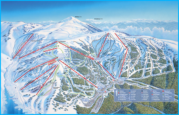 Map of Falls Creek Ski Fields