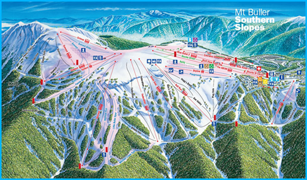 Map of Mt Buller Ski Fields
