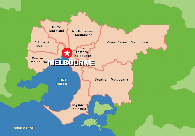 Melbourne | City of Melbourne | Victoria map