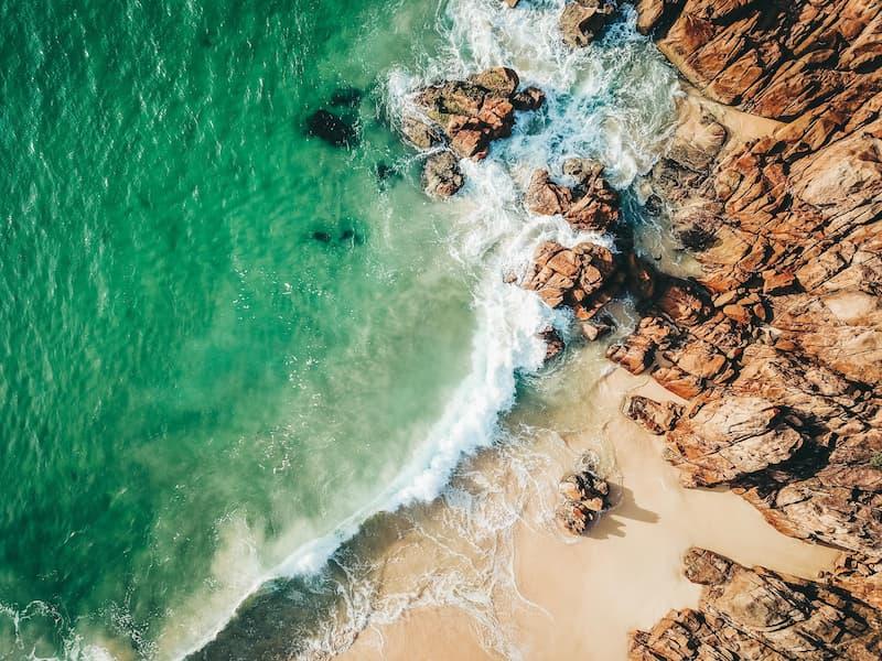 Shoal Bay NSW Rocks s