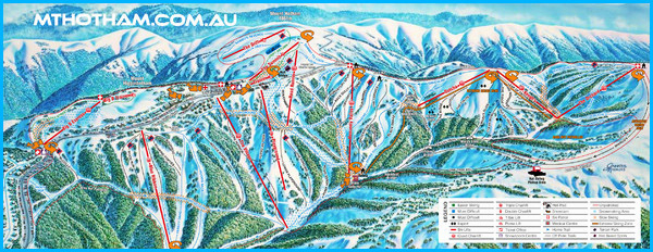 Map of Mt Hotham Ski Fields
